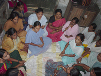 Community women in circle